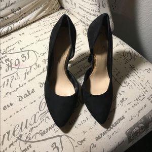 Jessica Simpson black suede stilettos (NEW)